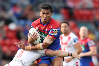 Jacob Saifiti joined brother Daniel on the Knights scoresheet in the second half.