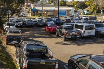 Ringwood railway station car park in suburban Melbourne - one of the projects promised funding in 2019 - is still to be upgraded.