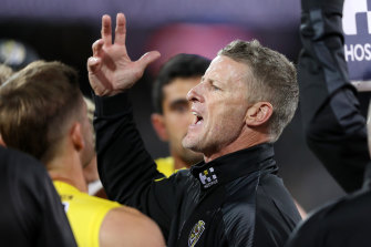 Damien Hardwick says the Tigers will perform when the whips are cracking.