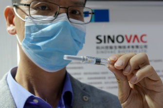 Sinovac's CoronaVac, being tested in Brazil and Indonesia, is in the final-stage human trials.