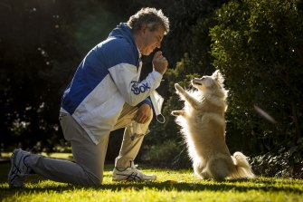 John Chellew from the School Refusal Clinic and his child therapy dog Max.