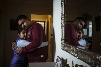 Sikander Kang, with his daughter Sehar, has been separated from his son for more than a year.