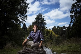 Landscape designer Phillip Johnson at the Australian Garden site, a former golf course, in Olinda.