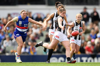 Stacey Livingstone was best on ground as the Pies won the VFLW decider.