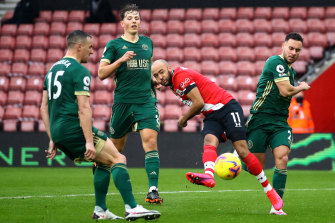 Nathan Redmond scores for Southampton.