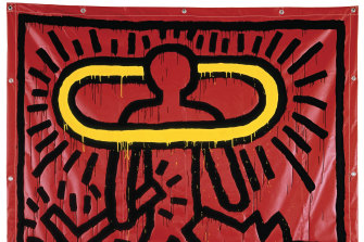Detail from Keith Haring's Untitled (1982).