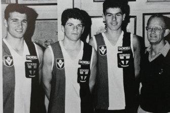 Robert Harvey (second from left) in 1988.