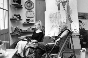 Sylvette, 19, with Picasso.