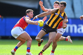 Jaeger O'Meara, right, suffered a facial fracture in training.