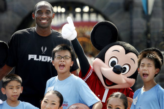 Bryant on a visit to Hong Kong Disneyland in 2006.