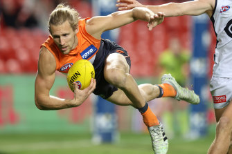 Nick Haynes was the best player on the ground in the Giants' comeback win over Carlton.