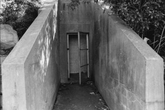 Entrance to the underground headquarters on April 20, 1971.