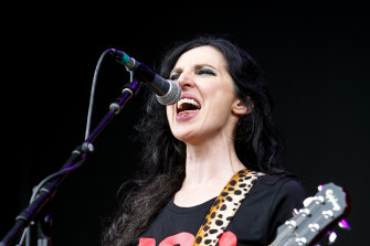 Adalita on stage with Magic Dirt in January, two months before musicians and the music sector were impacted by coronavirus.