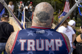 A Trump supporter in Texas.