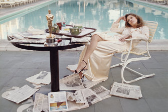 Faye Dunaway the morning after her 1977 Oscar win.