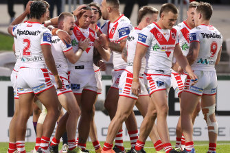 Tyson Frizell scored twice in his final match with the Red V.