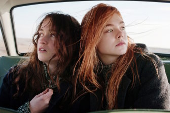Sally Potter's Ginger & Rosa brought out the contradictions within Elle Fanning's persona. She is seen with Alice Englert (left).
