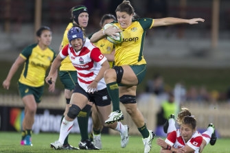 Grace Hamilton was named Wallaroos player of the year.