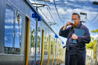 Chris O'Neill took the train to the city every day for 20 years, now he works from home.