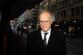Justice Dyson Heydon arrives at the Royal Commission into trade unions in 2015 in Sydney,