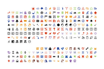 The original emoji menu designed by Shigetaka Kurita in the late 1990s is now held by New York's Museum of Modern Art.
