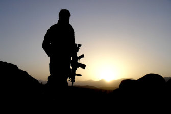 An Australian solider serving in Afghanistan.