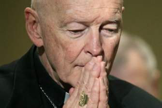 Then-cardinal Theodore McCarrick, pictured in 2011.