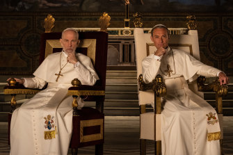 The New Pope by Paolo Sorrentino, stars Jude Law and John Malkovich.