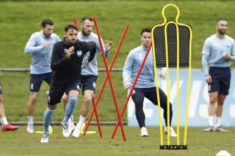 Sydney FC players returned to training on Wednesday, with no certainty as to whether the rest of the A-League season will be televised.
