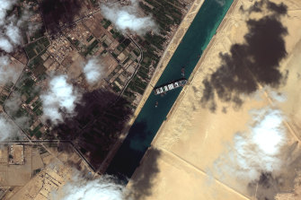 The mega-ship MV Ever Given blocked the Suez Canal for six days.
