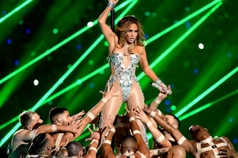 Jennifer Lopez performed at the Super Bowl in February 2020.