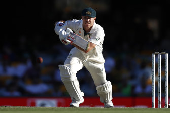 David Warner marked his first Test in Australia since his return from suspension with a century.