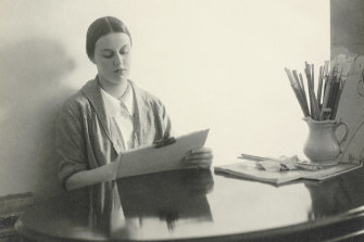 Harold Cazneaux's Portrait of Nora Heysen at work, March 9, 1939