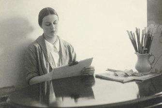 Harold Cazneaux's Portrait of Nora Heysen at work, March 9, 1939
