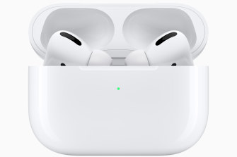 The Airpods Pro come in a wirelessly charging case that keeps the batteries topped up when you're not using them.