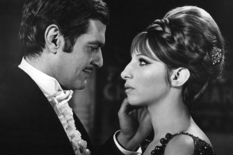 """""""I guess I'm from another time"""": in 1968's """"Funny Girl' with Omar Sharif."""
