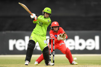 Rachael Haynes in action for Sydney Thunder. The WBBL starts on Sunday.