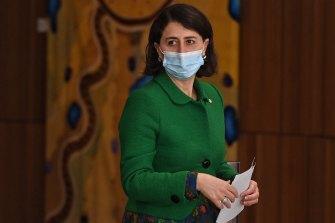 NSW Premier Gladys Berejiklian at Wednesday's press conference.