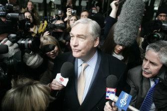 Conrad Black after sentencing in his  fraud trial in 2007.