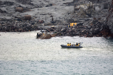 Six bodies were successfully recovered from White Island during Friday's recovery operation.