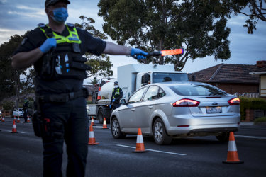 Police begin day one of postcode lockdown enforcement in hotspot suburbs around Melbourne.