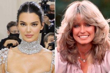 The '70s vs. the '90s: Kendall Jenner and Farrah Fawcett.