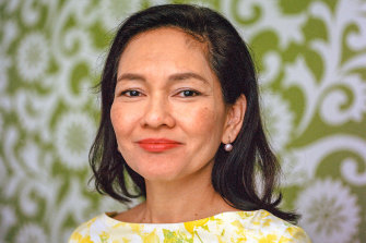 "Ana Theresia Navarro ""Risa"" Hontiveros, the sole senator for the Akbayan Citizens Action Party in the Philippines Congress."