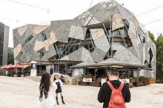 The Yarra Building at Federation Square was saved from demolition to be turned into an Apple store. But it may still be torn down, the government says.