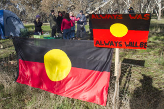 Traditional owners and others have been protesting against the road project.