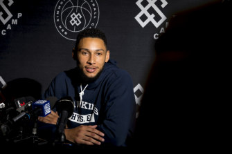 Aiming to be ready for opening night: The 76ers' Ben Simmons.