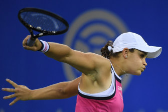 Ashleigh Barty lost in the semi-finals at Wuhan.