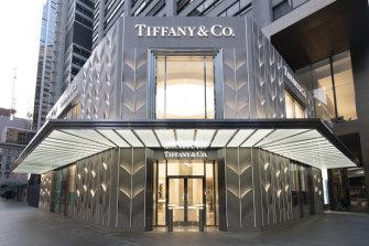 Tiffany & Co's new flagship store at 175 Pitt Street.