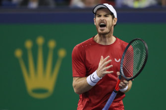Frustrated: Andy Murray.