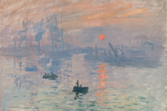 Claude Monet's Impression, sunrise 1872.